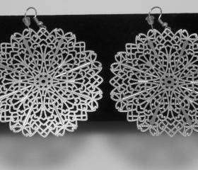Dangle Earrings - large snowflake design